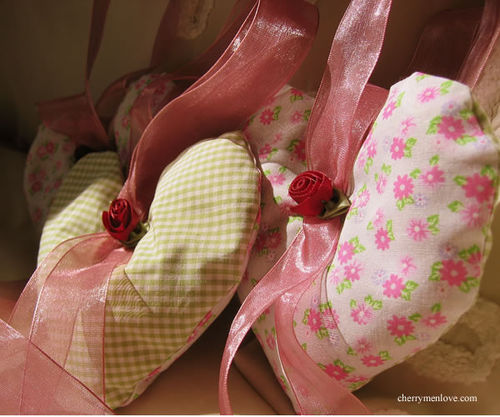 Gingham and floral lavender hearts 1 - cherry menlove